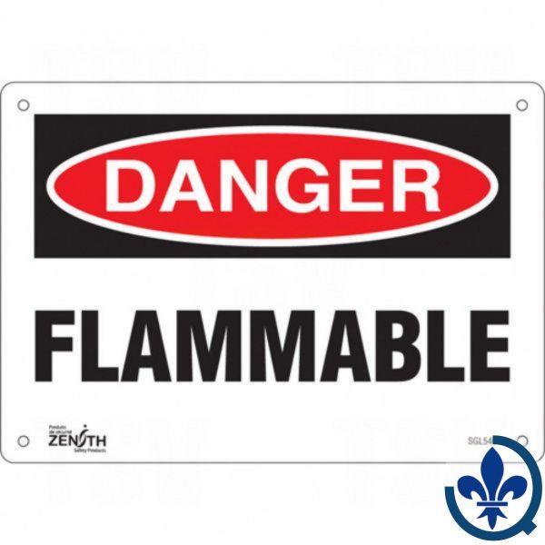 Enseigne-«Flammable»-SGL546