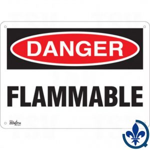 Enseigne-«Flammable»-SGL549