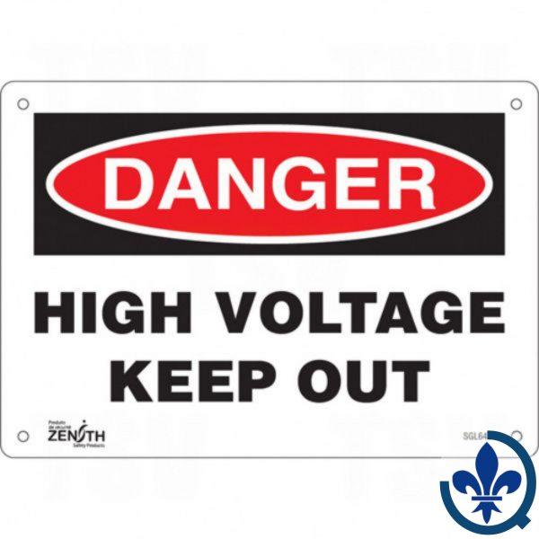 Enseigne-«High-Voltage-Keep-Out»-SGL642