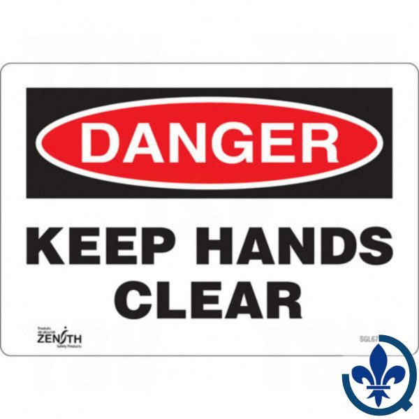 Enseigne-«Keep-Hands-Clear»-SGL671