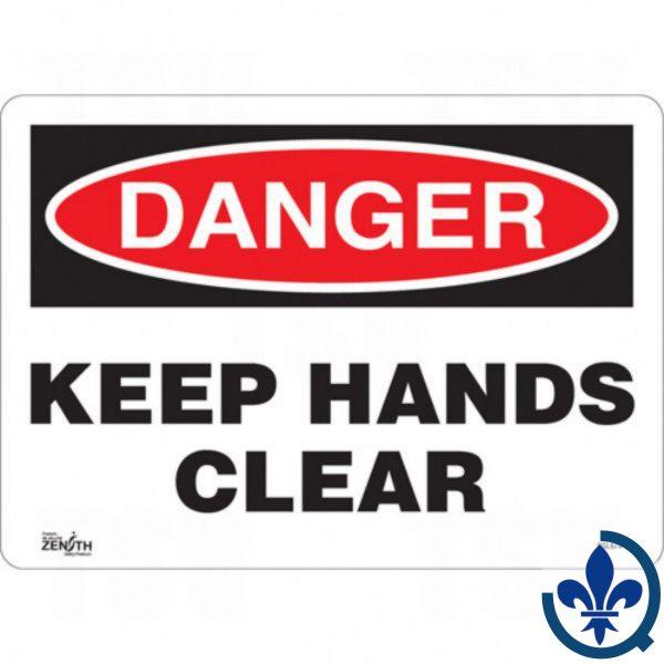 Enseigne-«Keep-Hands-Clear»-SGL674