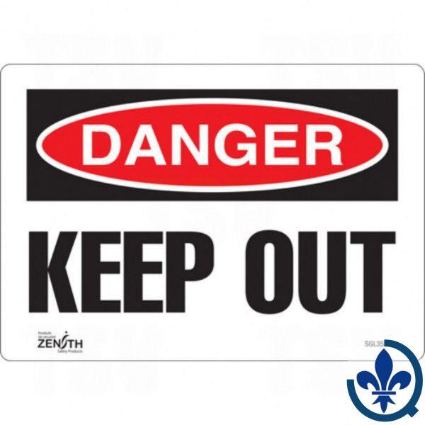Enseigne-«Keep-Out»-SGL353