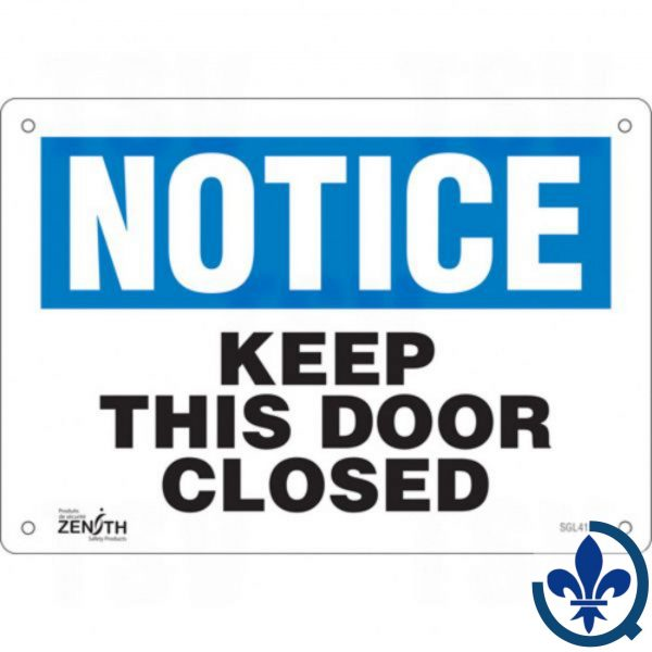 Enseigne-«Keep-This-Door-Closed»-SGL415