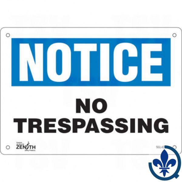 Enseigne-«No-Trespassing»-SGL427