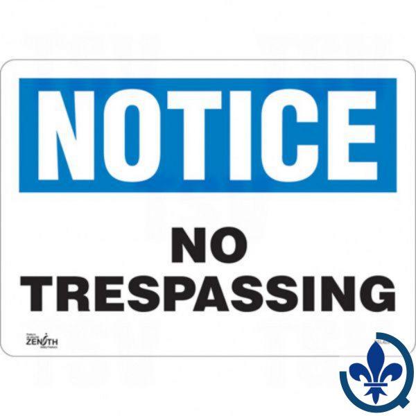 Enseigne-«No-Trespassing»-SGL428