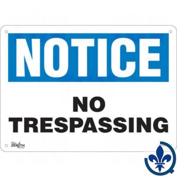 Enseigne-«No-Trespassing»-SGL430