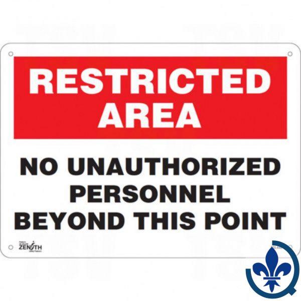 Enseigne-«No-Unauthorized-Personnel»-SGL448