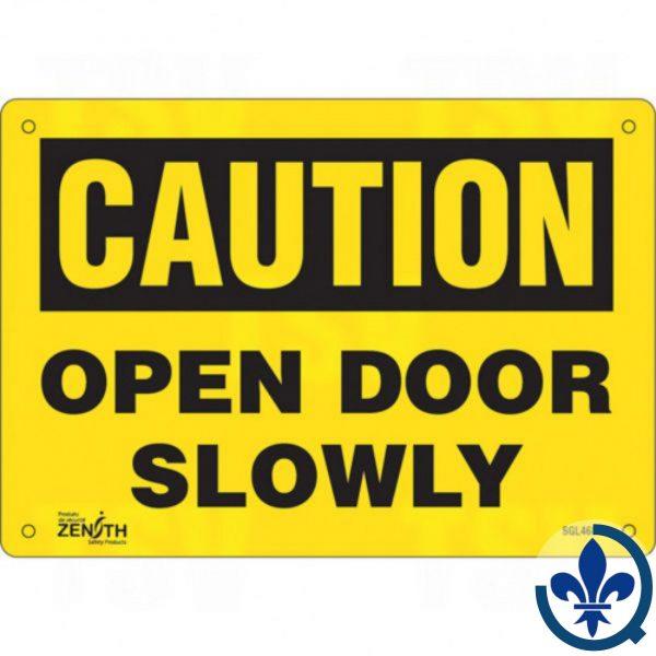 Enseigne-«Open-Door-Slowly»-SGL468