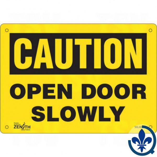 Enseigne-«Open-Door-Slowly»-SGL469