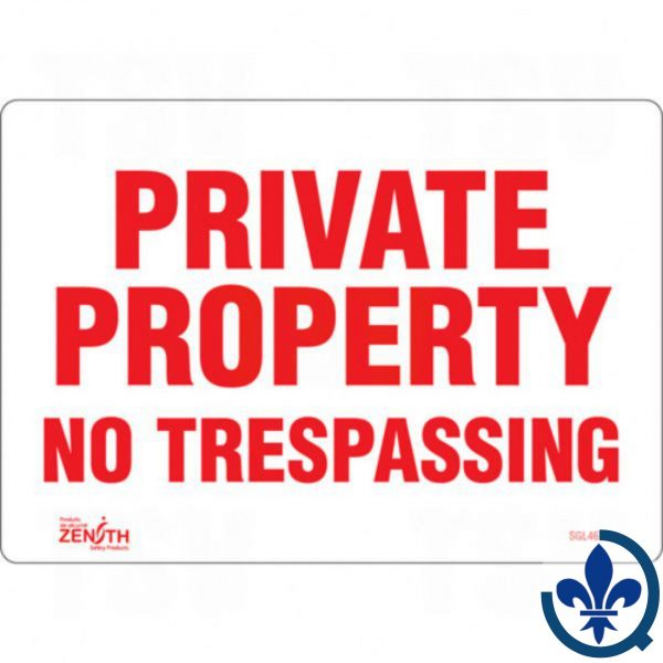 Enseigne-«Private-Property»-SGL461